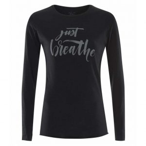 Urban Goddess Yoga Shirt Just Breathe - Urban Black
