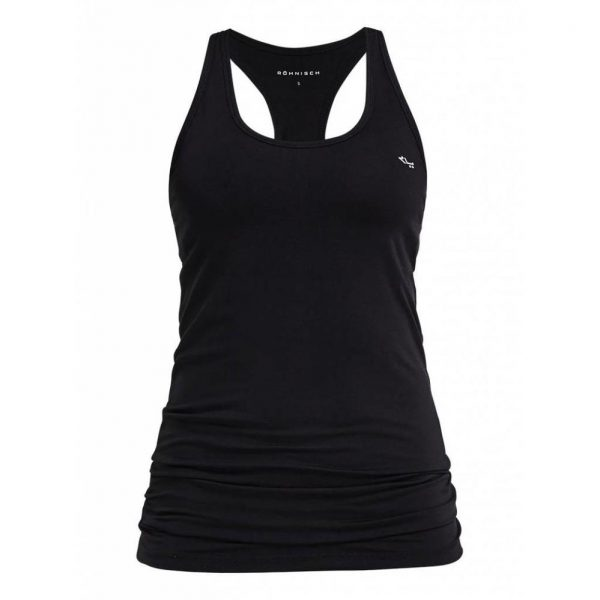 Rohnisch Yoga Top Long Racerback - Black