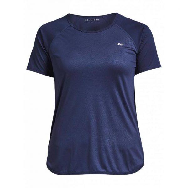 Rohnisch Yoga Shirt Comfy Tee - Navy Dot Embossed