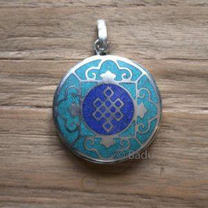 Yogi&Yogini Hanger Oneindige Knoop 3 cm - Blauw/Turquoise