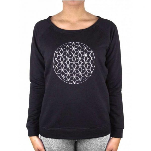 Anoona Yoga Trui Nova Flower Of Life - Black