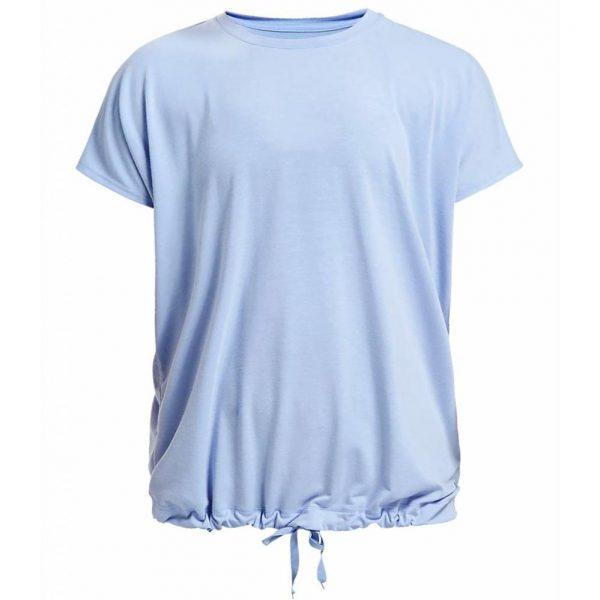Rohnisch Yoga Shirt Hatha Loose Tee - Light Blue