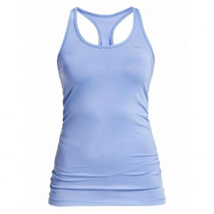 Rohnisch Yoga Top Long Racerback - Blue Shell