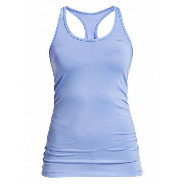Rohnisch Yoga Top Long Racerback - Blue Shell