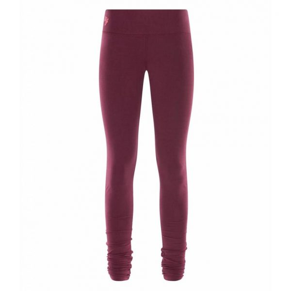 Urban Goddess Yoga Legging Bhaktified Deep Cherry