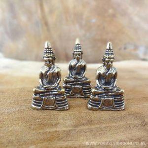 YogaStyles Mini Bronzen Thaise Boeddha - Set van 3