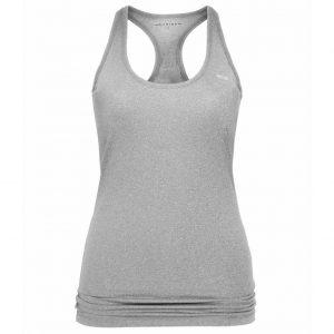 Rohnisch Yoga Top Long Racerback -  Grey Melange