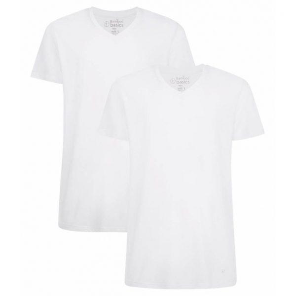 Bamboo Basics Bamboe Shirt Heren Velo (2-pack) - Wit