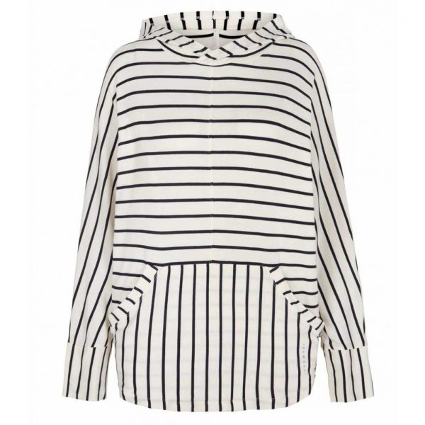 Asquith Yoga Shirt Mellow Hoody Stripe - Navy/Ivory