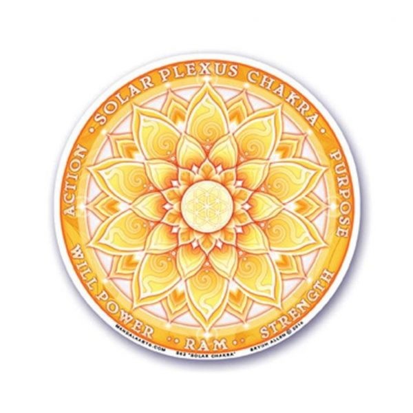 Yogi&Yogini Raamsticker 3e Chakra (Manipura)