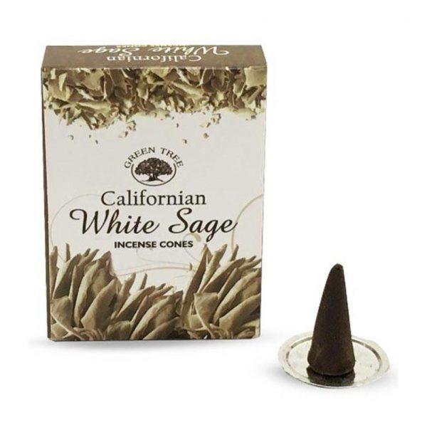 Green Tree Wierook Kegeltjes - White Sage