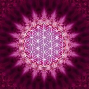 By Badu Wenskaart Flower Of Life
