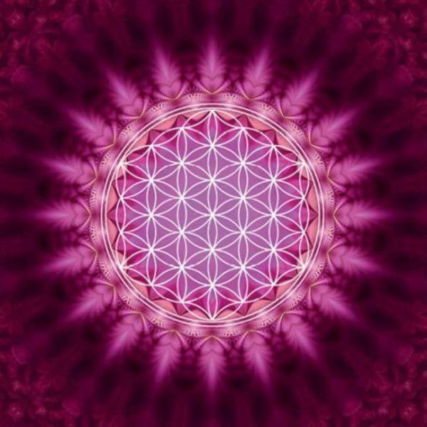 By Badu Wenskaart Flower Of Life