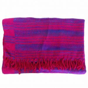YogaStyles Meditatie Deken Roze/Paars/Blauw