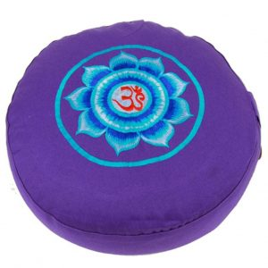 Yogi&Yogini Meditatiekussen Violet Ohm 17x33cm