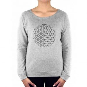 Anoona Yoga Trui Nova Flower of Life - Grey