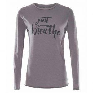 Urban Goddess Yoga Shirt Just Breathe - Volcanic Glass