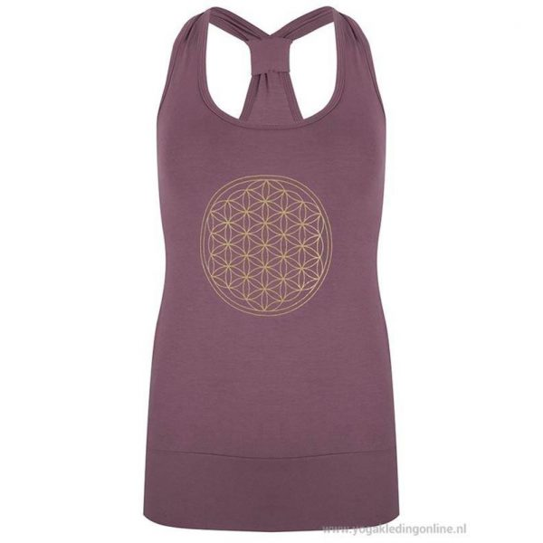 Yogi&Yogini Yoga Top Flower Of Life - Paars