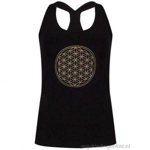 Yogi&Yogini Yoga Top Flower Of Life - Black