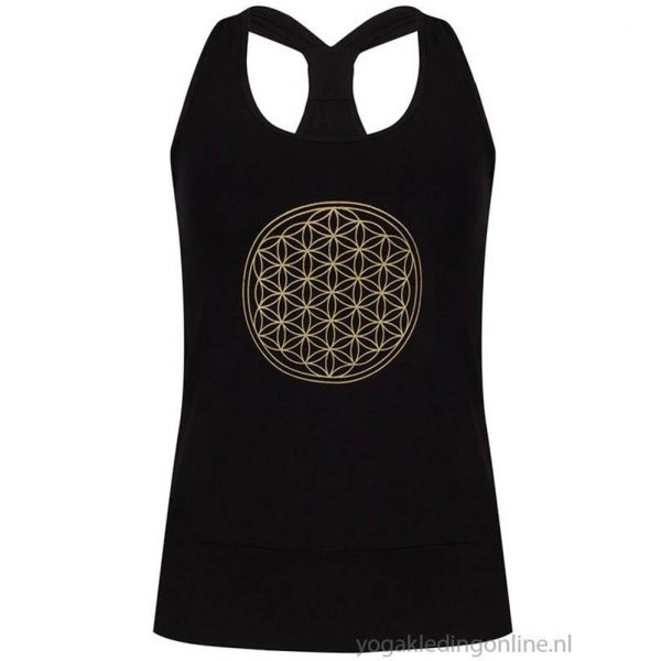 Yogi&Yogini Yoga Top Flower Of Life - Black