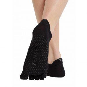Zense Yogawear Yoga Sokken - Zwart