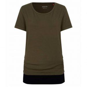 Asquith Yoga Shirt Bend It - Khaki/Jet Black