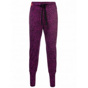 Urban Goddess Yoga Broek Life is a Dance Leopard -  Very Berry