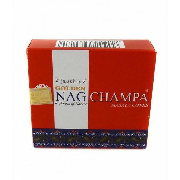 Satya Nag Champa Wierook Kegeltjes - Golden Nag Champa