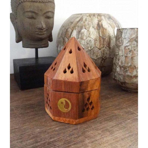 YogaStyles Kegel Wierookbrander - Piramide Yin Yang