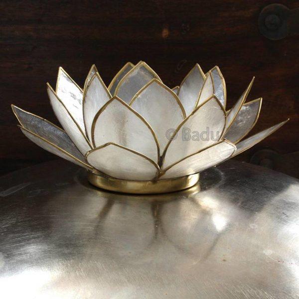 Yogi&Yogini Lotusbloem Waxinehouder - Naturel (goud)