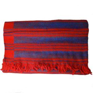 YogaStyles Meditatie Deken Rood/Turquoise/Blauw
