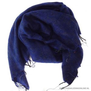 Yogi&Yogini Meditatie Omslagdoek - Blauw/Zwart/Grijs