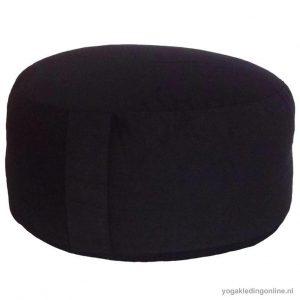 Yogi&Yogini Meditatiekussen Extra Groot Zwart 21x36cm