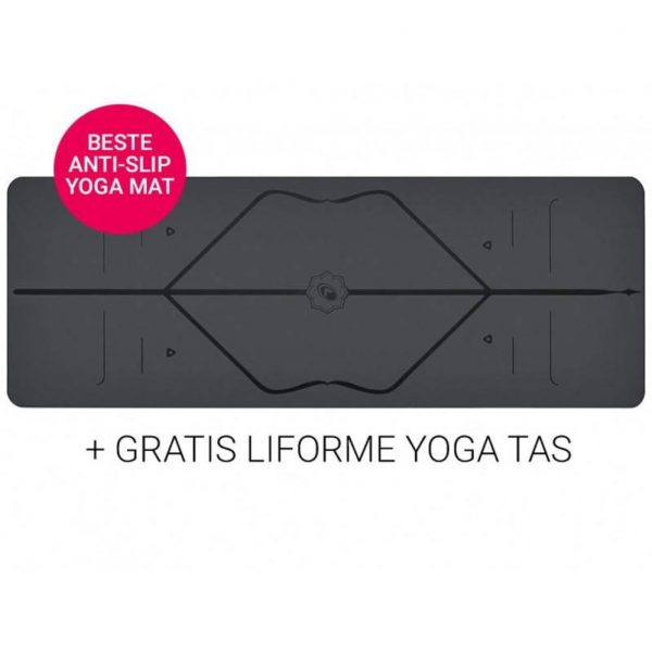 Liforme Yoga Mat Super Grip Grey 4