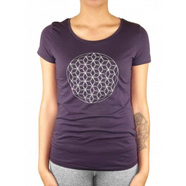 Anoona Yoga Shirt Indi Flower Of Life - Plum
