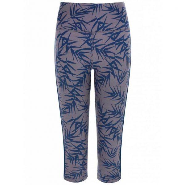 Asquith Yoga Capri Legging Karma - Bamboo Print Navy