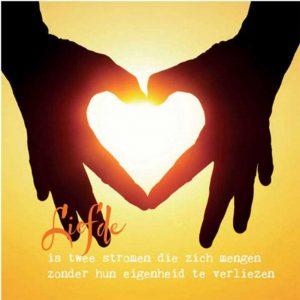 By Badu Wenskaart Liefde is