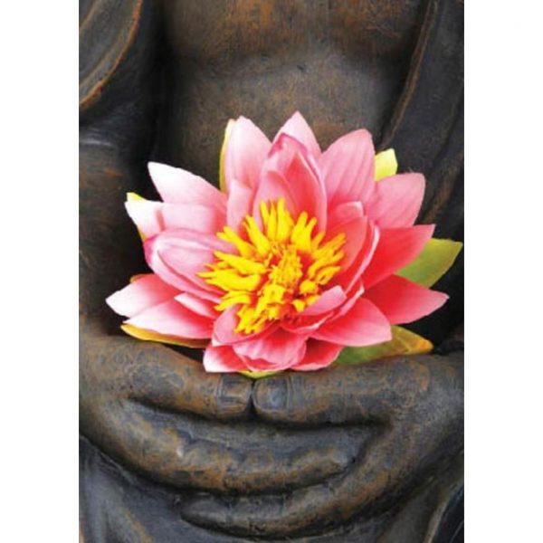 By Badu Ansichtkaart Lotus Roze