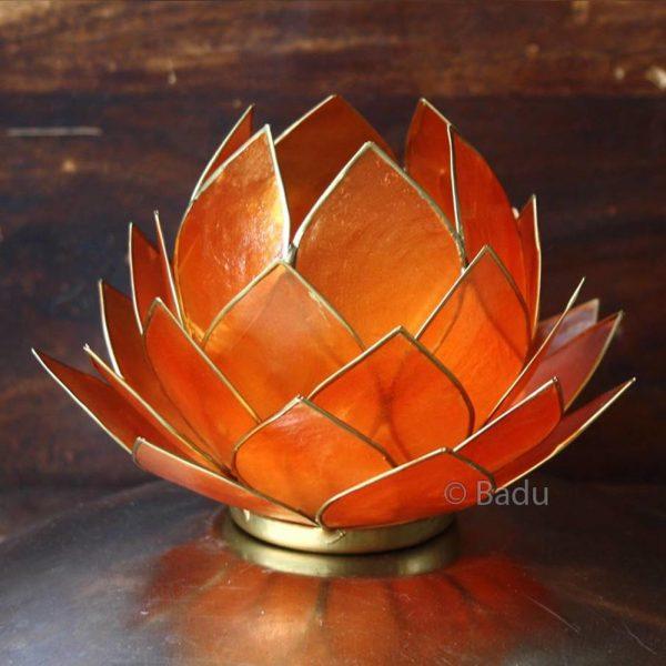 Yogi&Yogini Lotusbloem Waxinehouder - Groot Oranje
