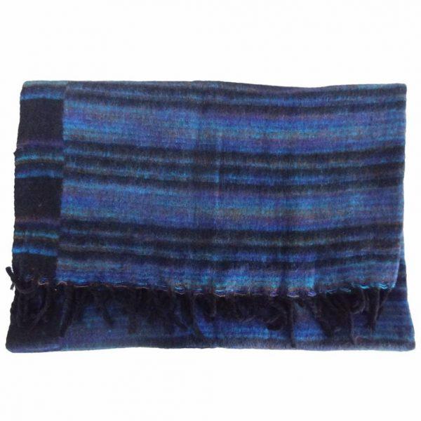 YogaStyles Meditatie Deken Zwart/Blauw/Turquoise