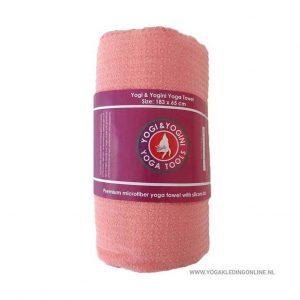 Yogi&Yogini Yoga Handdoek  - Roze