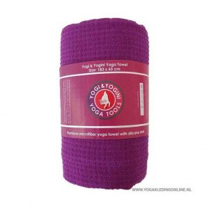Yogi&Yogini Yoga Handdoek  - Paars
