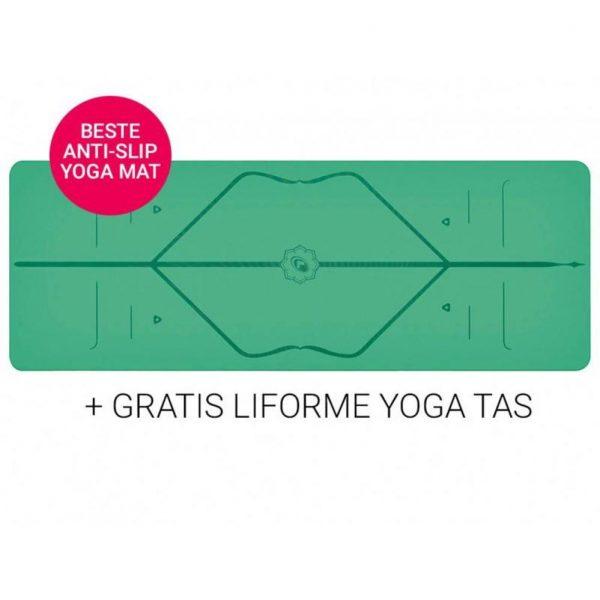 Liforme Yoga Travel Mat Super Grip Green 2 mm