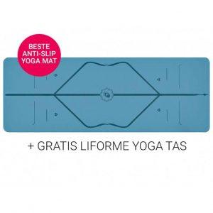 Liforme Yoga Travel Mat Super Grip Blue 2 mm