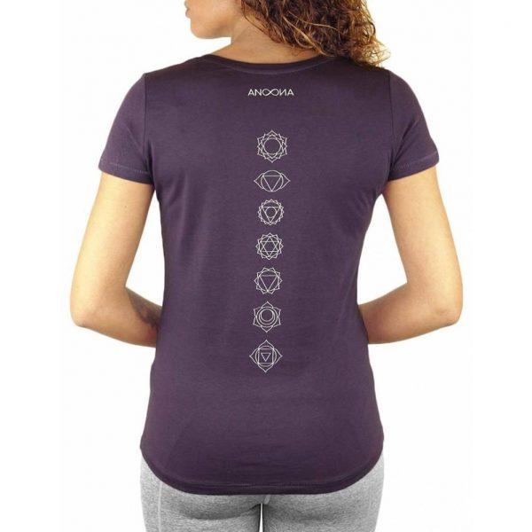 Anoona Yoga Shirt Indi Chakra - Plum