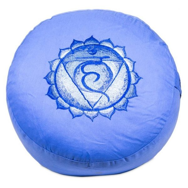 Yogi&Yogini Meditatiekussen Vijfde Chakra Vishuddha - Blauw