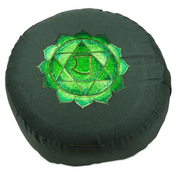 Yogi&Yogini Meditatiekussen Vierde Chakra Anahata - Groen