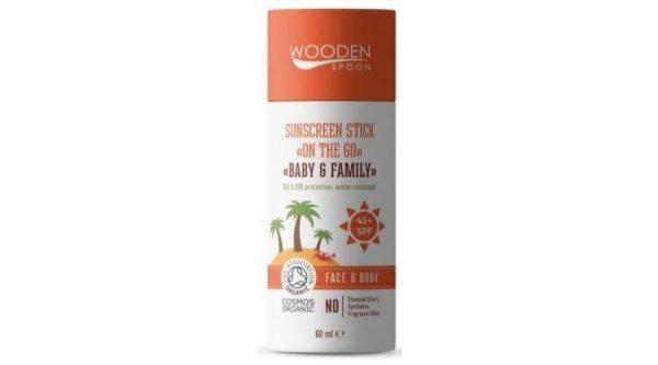 Wooden Spoon Natuurlijke zonnebrand stick SPF 45 Baby & Family - Wooden Spoon