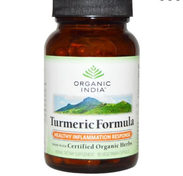 Turmeric Formula - Joint Mobility & Support (90 Veggie Caps) - Organic India