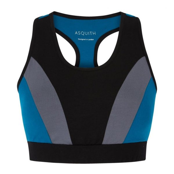 Asquith Yoga BH Balance - Black/Deep Grey/Teal